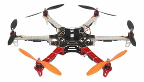 AeroSky RC 550 RC 6 Channel Hexacopter w/ (6) Brushless 920KV Motors (6) 40A Hobbywing SkyWalker ESC ARTR (Red) RC Remote Control Radio Drone