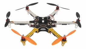 AeroSky RC 550 RC 6 Channel Hexacopter Almost Ready to Fly (Yellow) RC Remote Control Radio