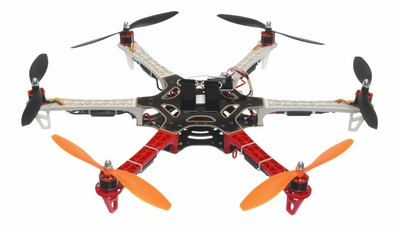 AeroSky RC 550 RC 6 Channel Hexacopter Ready to Fly 2.4 G (Red) RC Remote Control Radio