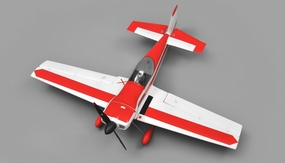 AeroSky RC Cap 6 Channel Aerobatic  ARF Wingspan 750mm RC Plane (Red) RC Remote Control Radio