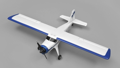 AeroSky RC DHC 4 Channel Trainer  KIT Wingspan 1000mm RC Plane (Blue) RC Remote Control Radio