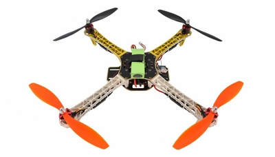 AeroSky RC Quadcopter  4 Channel RTF w/ LED  (Yellow) RC Remote Control Radio