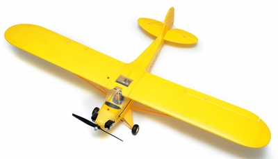 Airfield 1400mm Electric Brushless 4-Ch Super J3  Remote Control RC Plane RTF (Yellow) RC Remote Control Radio 93A1403-1400-J3-Yellow-RTF-24G
