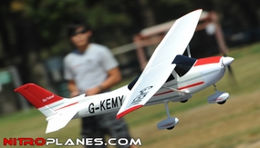 "Airfield 2.4Ghz 4Ch 55"" Sky Trainer RC Airplane RTF w/ Brushless Motor/ESC/LiPo (Red) RC Remote Control Radio"