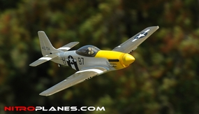 "Airfield 2.4Ghz Electric P-51 Mustang 800mm 31.5"" RTF (Yellow) RC Remote Control Radio"