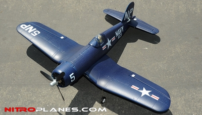 "Airfield 4Ch 2.4Ghz F4U Corsair 800mm 31.5"" RTF(Blue) RC Remote Control Radio 93A292-800F4U-RTF-24G-Blue"
