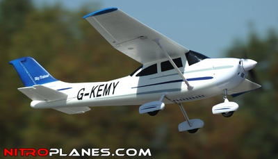 "Airfield 4Ch 55"" Sky Trainer RC Airplane ARF Almost Ready to Fly w/ Brushless Motor/ & ESC (Blue) RC Remote Control Radio"