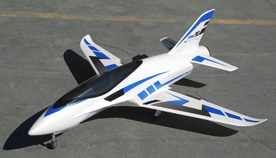 Airfield 6 Channel  Sonic Piercer 90mm EDF Jet Plane Ready to Fly  1171mm Wing Span (Blue) RC Remote Control Radio