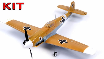 "AirField 800mm (31.5"") BF-109 Messerschmitt RC War Plane Airframe Kit RC Remote Control Radio 93A220-800BF109-Kit"
