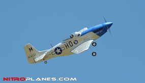 "AirField 800mm (31.5"") Electric P51 Mustang RC Warbird Plane w/ 2.4Ghz Brushless/Lipo RTF (Blue) RC Remote Control Radio"