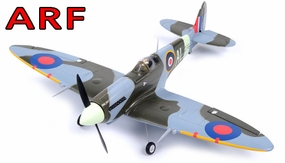 "AirField 800mm (31.5"") Electric Spitfire ARF Receiver-Ready w/ Brushless Motor+ESC RC Remote Control Radio 93A235-800SpitFire-ARF"