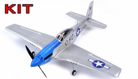 "AirField 800mm (31.5"") P51 Mustang RC Warbird Airframe Kit (Blue) RC Remote Control Radio"