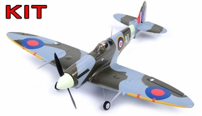 "AirField 800mm (31.5"") Spitfire RC Warbird Airframe Kit RC Remote Control Radio 93A235-800SpitFire-Kit"