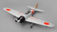 Airfield A6M Zero Kit Version 6 Channel Warbird RC Plane 1450 Wingspan (Grey) RC Remote Control Radio