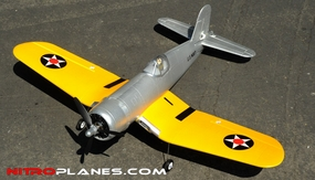 "Airfield Extreme Detail 4-Channel Remote F4U Corsair 800mm (31.5"") Remote Control Airplane Airframe KIT Yellow RC Remote Control Radio 93A292-800F4U-KIT-Yellow"
