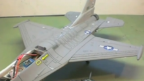Airfield F-16 Fighter Jet Build by Jeff