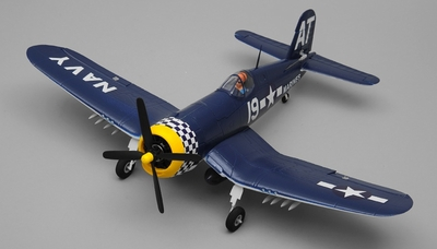 Airfield F4U RC Plane 4 Channel Corsair 800mm Kit (Blue) RC Remote Control Radio