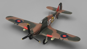 Airfield Hurricane 2.4ghz 4 Channel RC Warbird Ready to Fly RTF Wingspan 750mm RC Remote Control Radio