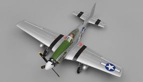 Airfield P51 4 Channel Warbird KIT 800mm Wingspan(Green) RC Remote Control Radio