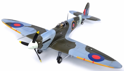 AirField RC 5-Ch Spitfire RC Warbird Plane Kit Airframe w/ Electric Retracts (Camo) RC Remote Control Radio
