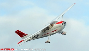 """AirField RC 55"""" Sky Trainer Upgrade Version Airplane w/Flaps/LED Lights Airframe KIT Version *Super Scale/Detail* EPO Foam Plane (Red) RC Remote Control Radio"""