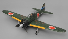 Airfield RC A6M Zero Ready to Fly 6 Channel Warbird 1450mm Wingspan (Green) RC Remote Control Radio