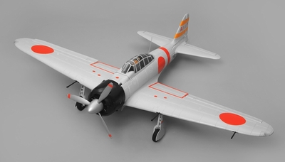 Airfield RC A6M Zero Ready to Fly 6 Channel Warbird 1450mm Wingspan (Grey) RC Remote Control Radio
