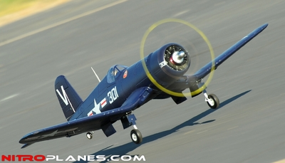 AirField RC F4U Corsair 1430MM Warbird Plane *Super Scale* EPO Foam Plane + Electric Retracts Airframe KIT (Blue) RC Remote Control Radio