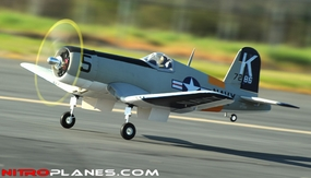 AirField RC F4U Corsair 1430MM Warbird Plane *Super Scale* EPO Foam Plane + Electric Retracts Airframe KIT (Gray) RC Remote Control Radio