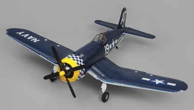 Airfield RC F4U Corsair 1450mm Warbird Almost Ready to Fly 1450mm Wingspan(Blue) RC Remote Control Radio