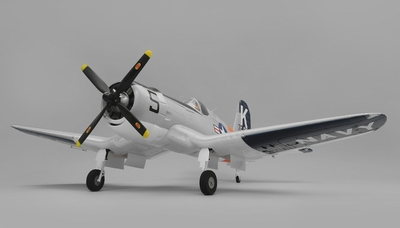 Airfield RC F4U Corsair 1450mm Warbird Almost Ready to Fly 1450mm Wingspan(Grey) RC Remote Control Radio