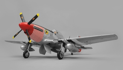 Airfield RC P51 Warbird Airplane 6 Channel Almost Ready to Fly  1450mm Wingspan (Red) RC Remote Control Radio