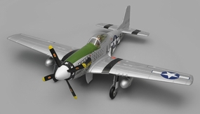 Airfield RC P51 Warbird Airplane 6 Channel Ready to Fly 2.4ghz 1450mm Wingspan (Green) RC Remote Control Radio