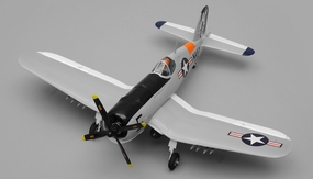 Airfield RC Plane 4 Channel F4U Corsair 800mm Almost Ready to Fly (Grey) RC Remote Control Radio