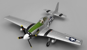 Airfield RC Plane  6 Channel P51 Mustang Warbird 1150mm Wingspan Almost Ready to Fly (Green) RC Remote Control Radio
