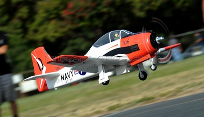 AirField RC T28 1400mm Radio Control Warbird Plane  *Super Scale* EPO Foam Plane + Electric Retracts (Red) Kit Version RC Remote Control Radio