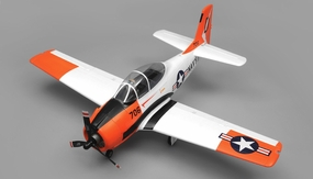 Airfield RC T28 Trojan 1450MM Wingspan 6 Channel Warbird Airplane Almost Ready to Fly (Red) RC Remote Control Radio