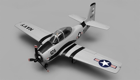 Airfield RC T28 Trojan 1450MM Wingspan 6 Channel Warbird Airplane Kit (Grey) RC Remote Control Radio