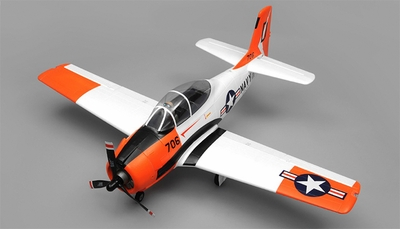 Airfield RC T28 Trojan 1450MM Wingspan 6 Channel Warbird Airplane Kit (Red) RC Remote Control Radio