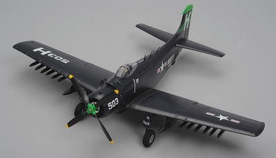 Airfield Skyraider A1 4 Channel RC Warbird Airplane Ready to Fly 800mm Wingspan (Blue) RC Remote Control Radio