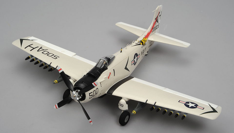 Airfield Skyraider A1 4 Channel Rc Warbird Airplane Ready