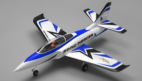 Airfield Sonic Piercer 64mm EDF Jet Almost Ready to Fly RC 4 Channel 800mm Wingspan (Blue) RC Remote Control Radio