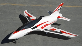 Airfield Sonic Piercer 90mm EDF Jet Plane Almost Ready to Fly  1171mm Wing Span (Red) RC Remote Control Radio