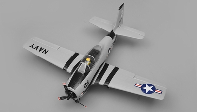 Airfield RC T28 Trojan Airplane w/ 2.4ghz 4 Channel Ready to Fly 2.4Ghz  800mm Wing Span (Grey) RC Remote Control Radio