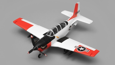Airfield T34 Mentor RC Plane 4 Channel Almost Ready to Fly ARF Wingspan 750mm (Red) RC Remote Control Radio