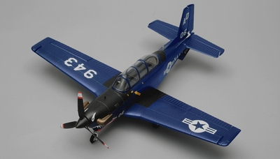 Airfield T34 Mentor RC Plane 4 Channel Kit Wingspan 750mm (Blue) RC Remote Control Radio