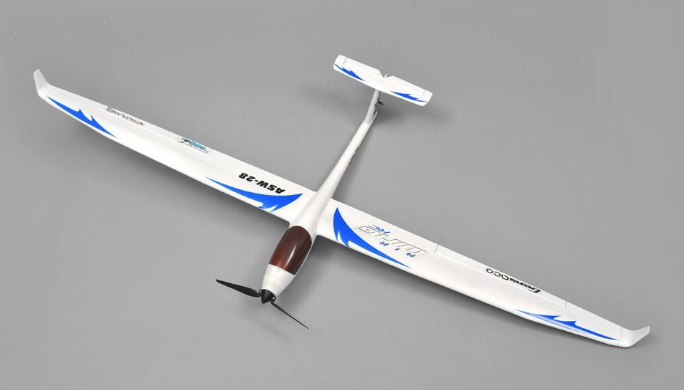 AirWing ASW28 4 Channel RC Airplane Glider EPO Kit (Blue) RC Remote