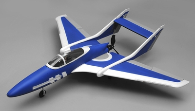 Airwing RC Bobcat 6 Channel Pusher Plane RC Kit 1143mm WingSpan (Blue) RC Remote Control Radio