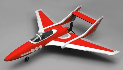 Airwing RC Bobcat 6 Channel Pusher Plane RC Kit 1143mm WingSpan (Red) RC Remote Control Radio
