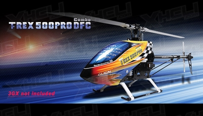 Align RC 6 Channel Helicopter T-REX 500PRO DFC Combo RH50E02X ARF
